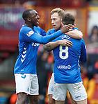 07.04.2019 Motherwell v Rangers: Glen Kamara, Scott Arfield and Ryan Jack