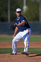 Milwaukee Brewers pitcher Jon Olczak (82) during an instructional league game against the Cleveland Indians on October 8, 2015 at the Maryvale Baseball Complex in Maryvale, Arizona.  (Mike Janes/Four Seam Images)