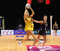 Kate Moloney of Australian Diamonds during the Constellation Cup international netball series match between New Zealand Silver Ferns and Australian Diamonds at Christchurch Arena in Christchurch, New Zealand on Tuesday, 2 March 2021. Photo: Martin Hunter / lintottphoto.co.nz