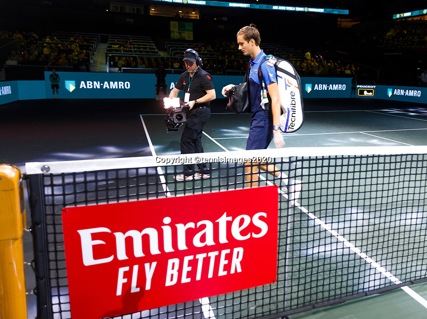 Rotterdam, The Netherlands, 12 Februari 2020, ABNAMRO World Tennis Tournament, Ahoy. Daniil Medvedev (RUS).<br /> Photo: www.tennisimages.com
