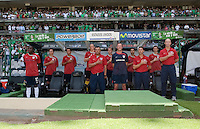 Bob Bradley and Coaching Staff before .USA Men's National Team loses to Mexico 2-1, August 12, 2009 at Estadio Azteca, Mexico City, Mexico. .   .