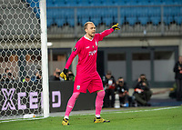 12th March 2020, TGW Arena, Pasching, Austria; UEFA Europa League football,  LASK versus Manchester United; Goalie Alexander Schlager LASK gives directions to his defense