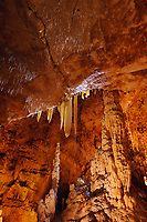 Rockformations, Natural Bridge Caverns, Hill Country, Texas, USA