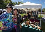 Michael and Suzanne Anderson in the One of A Kind Stuff booth during the inaugural Bud and Brew Music Festival in Wingfield Park in downtown Reno on Saturday, Sept. 23, 2017.