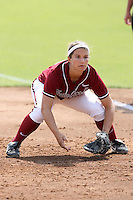 18 May 2007: Stanford Cardinal Erin Howe during Stanford's 3-0 win against the Cal State Northridge Matadors in the 2007 NCAA Softball Regionals at Boyd & Jill Smith Family Stadium in Stanford, CA.