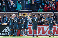 Minneapolis, MN - Saturday March 17, 2018: Minnesota United FC played Chicago Fire in a Major League Soccer (MLS) game at TCF Bank stadium.  Final score Minnesota United FC 2, Chicago Fire 1