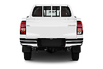 Straight rear view of 2016 Toyota Hilux GL 4 Door Pickup Rear View  stock images
