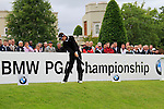 Alejandro Canizares (ESP) tees off on the 1st tee to start his round on Day 2 of the BMW PGA Championship Championship at, Wentworth Club, Surrey, England, 27th May 2011. (Photo Eoin Clarke/Golffile 2011)