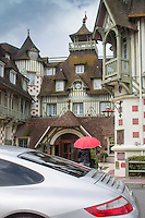 France, Calvados (14), Côte Fleurie, Deauville, Hôtel Normandy du groupe Barrière //  France, Calvados,  Côte Fleurie, Deauville, Hotel Normandy from Barriere group