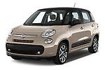 2017 Fiat 500L Lounge 5 Door Mini MPV Angular Front stock photos of front three quarter view