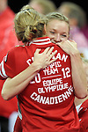 London 2012. Womens Trampoline Finals 4.8.12  North Greenwich Arena . Rosannagh Maclennan of Canada winner of the Gold Medal