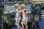 Boston College Eagles players go to the locker room during the Servpro First Responder Bowl game between Boise State Broncos and Boston College Eagles at the Cotton Bowl Stadium in Dallas, Texas.