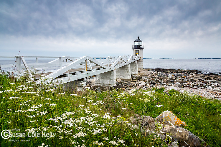 Marshall Point Light in Port Clyde, Maine, USA