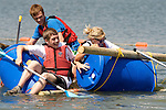 Pix: Shaun Flannery/sf-pictures.com..COPYRIGHT PICTURE>>SHAUN FLANNERY>01302-570814>>07778315553>>..1st July 2009..........Doncaster School's Raft Race, Rother Valley Country Park.