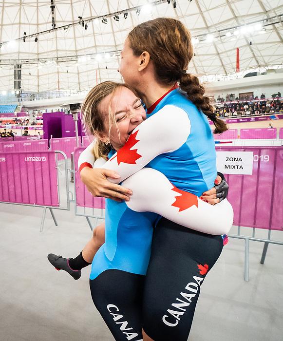 Annie Bouchard and Evelyne Gagnon - Lima 2019. Para Cycling // Paracyclisme.<br /> Annie Bouchard and Evelyne Gagnon compete in the women's 1000m time trial // Annie Bouchard et Evelyne Gagnon participent au contre-la-montre féminin du 1000 m. 26/08/2019.