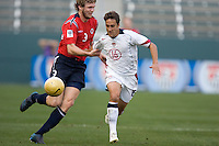 USA's Josh Wolff battles with Norway's Frode Kippe for the ball during an international friendly, in Carson, California, Sunday, Jan. 29th, 2006.