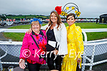 Enjoying the Ladies Day at the Listowel Races on Friday, l to r: Joan O'Connor (Tournafulla), Catriona O'Connor (Abbeyfeale) and Mary Woulfe (Athea).