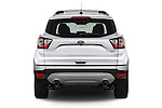 Straight rear view of 2018 Ford Escape Titanium 5 Door Suv Rear View  stock images