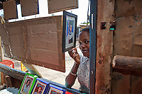 Katharine Kalonde, visiting  Lens Photo Studio in Kibera, Nairobi, Kenya's largest slum.