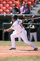 April 14th, 2008:  Danny Sandoval (10) of the Buffalo Bisons, Class-AAA affiliate of the Cleveland Indians, during a game at Dunn Tire Park in Buffalo, NY.  Photo by:  Mike Janes/Four Seam Images