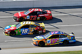 #18: Kyle Busch, Joe Gibbs Racing, Toyota Camry M&M's, #72: Corey LaJoie, TriStar Motorsports, Chevrolet Camaro Winn Dixie, #17: Ricky Stenhouse Jr., Roush Fenway Racing, Ford Fusion SunnyD