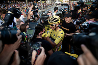 Egan Bernal (COL/Ineos) sharing the joy of his first Tour win with his family on the Champs-Élysées <br /> <br /> Stage 21: Rambouillet to Paris(128km)<br /> 106th Tour de France 2019 (2.UWT)<br /> <br /> ©kramon