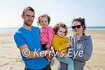 Enjoying a stroll on Banna beach on Saturday, l to r: Gary, Sadie and Lucia Baker and Siobhan McCrohan.