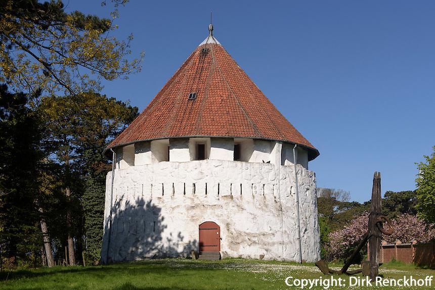 Festungsturm Rønne Festning in Rønne , Insel Bornholm, Dänemark, Europa<br /> Fortress tower Rønne Festning, Roenne, Isle of Bornholm, Denmark