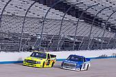 #88: Matt Crafton, ThorSport Racing, Ford F-150 Ideal Door/Menards, #16: Austin Hill, Hattori Racing Enterprises, Toyota Tundra United Rentals