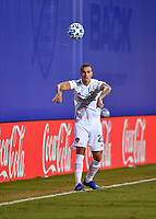 LAKE BUENA VISTA, FL - JULY 18: Rolf Feltscher #25 of LA Galaxy throws in the ball during a game between Los Angeles Galaxy and Los Angeles FC at ESPN Wide World of Sports on July 18, 2020 in Lake Buena Vista, Florida.