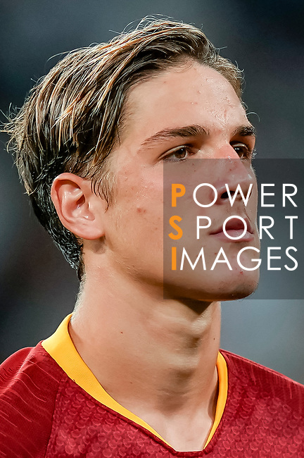 Nicolo Zaniolo of Roma reacts prior to the UEFA Champions League 2018-19 match between Real Madrid and Roma at Estadio Santiago Bernabeu on September 19 2018 in Madrid, Spain. Photo by Diego Souto / Power Sport Images