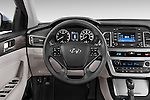 Car pictures of steering wheel view of a 2015 Hyundai Sonata 2.4 Auto Limited 4 Door Sedan