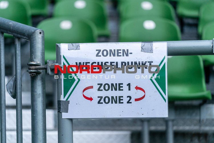 Feature Zonen Wechselpunkt Zone 1 zu Zone 2<br /> <br /> <br /> Sport: nphgm001: Fussball: 1. Bundesliga: Saison 19/20: 34. Spieltag: SV Werder Bremen vs 1.FC Koeln  27.06.2020<br /> <br /> Foto: gumzmedia/nordphoto/POOL <br /> <br /> DFL regulations prohibit any use of photographs as image sequences and/or quasi-video.<br /> EDITORIAL USE ONLY<br /> National and international News-Agencies OUT.