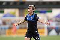 SAN JOSE, CA - SEPTEMBER 30: Florian Jungwirth #23 of the San Jose Earthquakes during a Major League Soccer (MLS) match between the San Jose Earthquakes and the Seattle Sounders on September 30, 2019 at Avaya Stadium in San Jose, California.