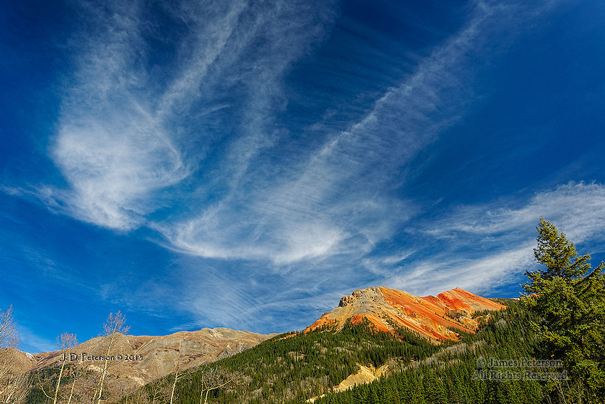 Cirrus Clouds over Red Mountain, Colorado