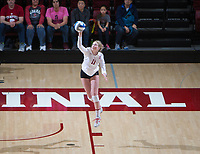 STANFORD, CA - December 1, 2017: Kate Formico at Maples Pavilion. The Stanford Cardinal defeated the CSU Bakersfield Roadrunners 3-0 in the first round of the NCAA tournament.