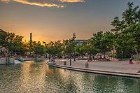 sunset at the Pueblo Riverwalk