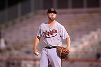 Visalia Rawhide relief pitcher Matt Brill (25) during a California League game against the San Jose Giants on April 12, 2019 at San Jose Municipal Stadium in San Jose, California. Visalia defeated San Jose 6-2. (Zachary Lucy/Four Seam Images)