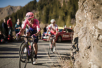 eventual stage winner Daniel Felipe Martínez (COL/EF Education First) putting in another formidable effort up the (final climb) Col de Turini<br /> <br /> Stage 7: Nice to Col de Turini (181km)<br /> 77th Paris - Nice 2019 (2.UWT)<br /> <br /> ©kramon