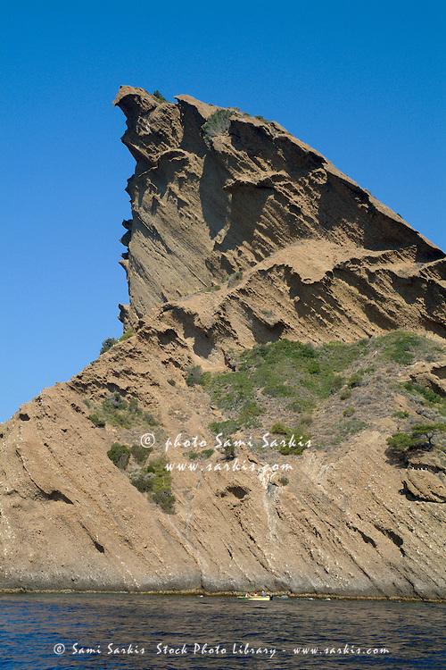 Le Bec de l'Aigle, a rocky outcrop on the coast of La Ciotat, Provence, France.