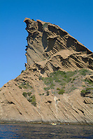 Le Bec de l'Aigle, a rocky outcrop on the coast of La Ciotat, Provence, France.