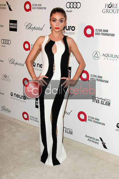 Sarah Hyland<br /> at the 23rd Annual Elton John Academy Awards Viewing Party, City of West Hollywood Park, West Hollywood, CA 02-22-15<br /> David Edwards/DailyCeleb.com 818-249-4998
