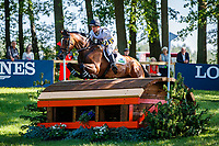 AUS-Sam Griffiths rides Paulank Brockagh during the Cross Country for the Longines CCI5*-L. Interim-7th. The Longines Luhmuehlen International Horse Trials. Salzhausen, Germany. Saturday 15 June. Copyright Photo: Libby Law Photography