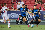 FC Internazionale Forward Ivan Perisic (C) in action during the International Champions Cup match between FC Bayern and FC Internazionale at National Stadium on July 27, 2017 in Singapore. Photo by Marcio Rodrigo Machado / Power Sport Images