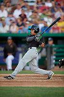 Dayton Dragons Brian Rey (11) at bat during a Midwest League game against the Kane County Cougars on July 20, 2019 at Northwestern Medicine Field in Geneva, Illinois.  Dayton defeated Kane County 1-0.  (Mike Janes/Four Seam Images)