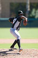 Chicago White Sox pitcher Andre Wheeler (47) delivers a pitch to the plate during an Instructional League game against the Los Angeles Dodgers on September 30, 2017 at Camelback Ranch in Glendale, Arizona. (Zachary Lucy/Four Seam Images)