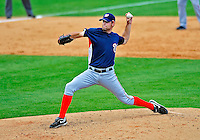 16 March 2009: Washington Nationals' pitcher Michael Hinckley on the mound during a Spring Training game against the Florida Marlins at Roger Dean Stadium in Jupiter, Florida. The Nationals defeated the Marlins 3-1 in the Grapefruit League matchup. Mandatory Photo Credit: Ed Wolfstein Photo