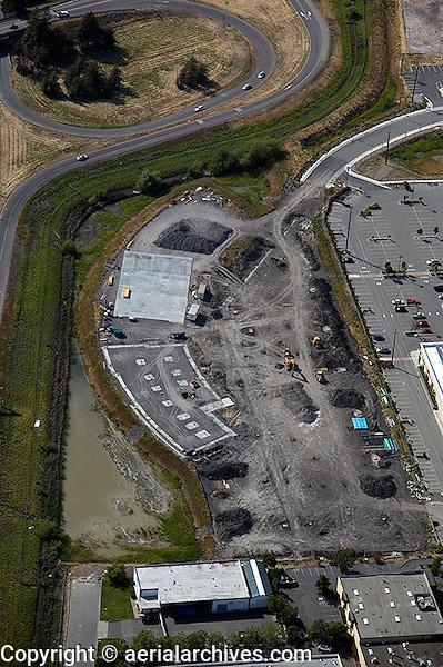 aerial photograph construction, Petaluma, Sonoma county, California