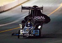 Jul 28, 2017; Sonoma, CA, USA; NHRA top fuel driver Shawn Langdon during qualifying for the Sonoma Nationals at Sonoma Raceway. Mandatory Credit: Mark J. Rebilas-USA TODAY Sports