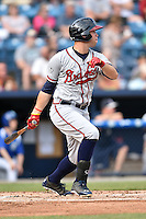 Rome Braves right fielder Braxton Davidson (24) swings at a pitch during a game against the Asheville Tourists on May 16, 2015 in Asheville, North Carolina. The Braves defeated the Tourists 6-3. (Tony Farlow/Four Seam Images)